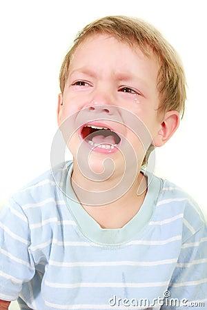 Crying toddler boy