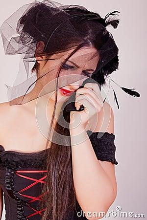 Crying widow