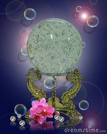Crystal ball orchids pearls
