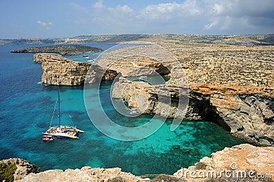 Crystal Bay, Comino island, Malta. Editorial Image