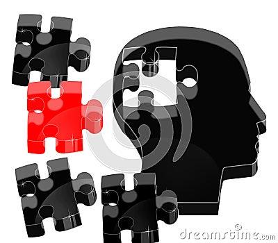 Crystal brain puzzle