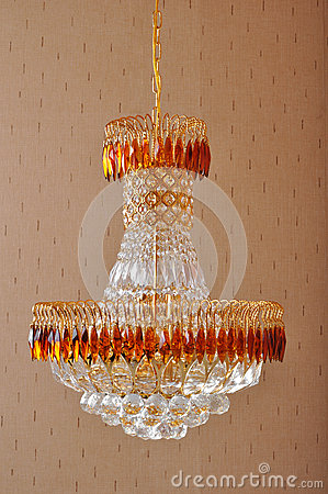 Free Crystal Chandelier  Lighting, Luxurious Crystal Droplight , Home Furnishing Decoration ,  Beautiful And Bright  Lighting Design Stock Photography - 30993022