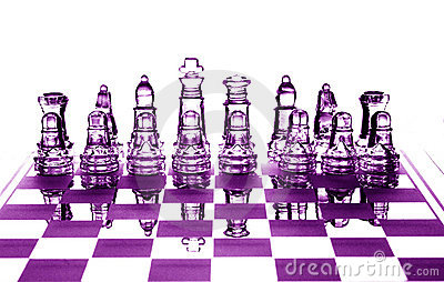 Crystal chessfigures