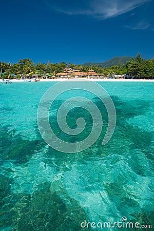 Crystal Clear Sea Resort Island Paradise Vertical
