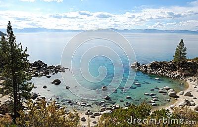 Crystal Clear Water Bay on Lake Tahoe