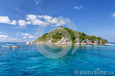 Crystal Clear Water at Tropical Island