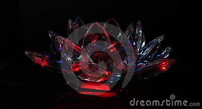 Crystal crimson lotus