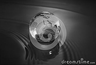 Crystal earth ball