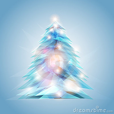 Crystal feel christmas tree