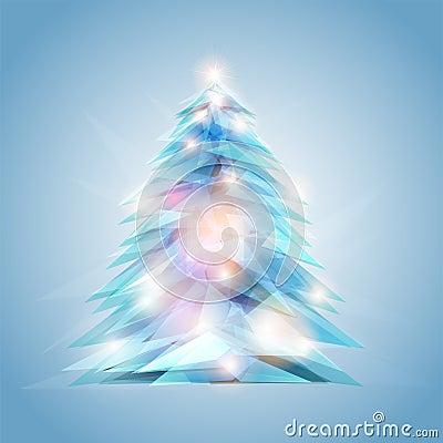 Crystal feel christmas tree
