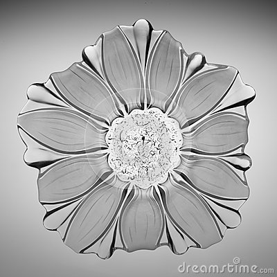 Crystal glass sunflower plate