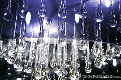 Crystal glass tears lamp detail texture