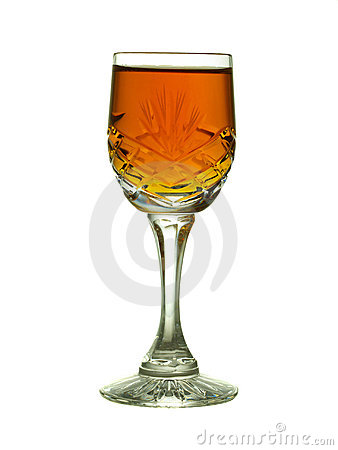 Free Crystal Glass With Sherry - Backlit Royalty Free Stock Photos - 4270868