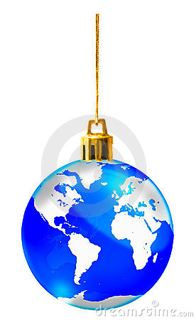 Crystal globe for christmas decorate