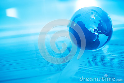 Crystal Globe On Financial Documents