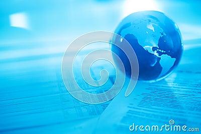 Crystal Globe On Financial Documents