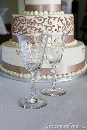 Crystal Goblets and Wedding Cake
