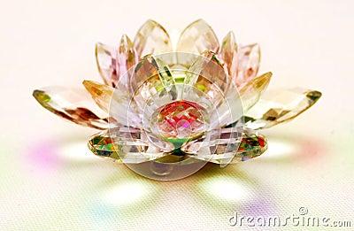 Crystal lotus flower