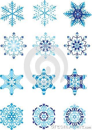 Crystal modulation of a snowflake