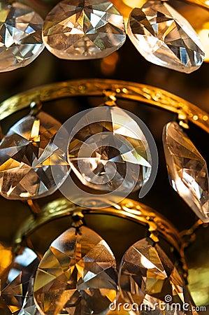 Crystal pendants.