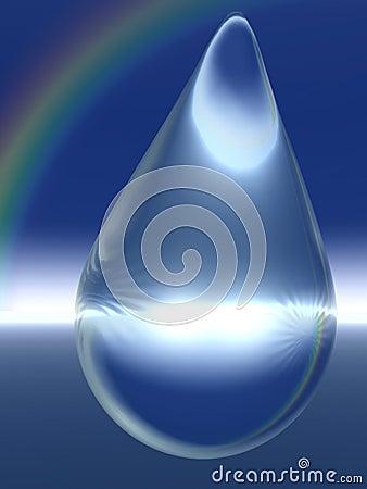 Crystal Raindrop and Rainbow