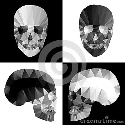 Free Crystal Skulls On Black And White Backgrounds Stock Photo - 38318560
