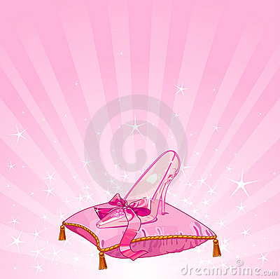 Free Crystal Slipper Background Royalty Free Stock Photography - 20447217