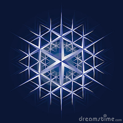 Crystal snow flake