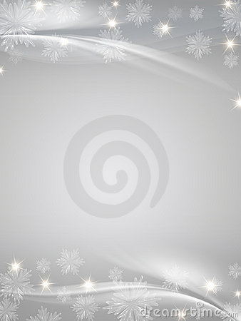 Free Crystal Snowflakes Grey Background Royalty Free Stock Photos - 17380618