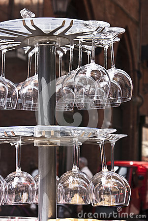 Crystal wineglasses