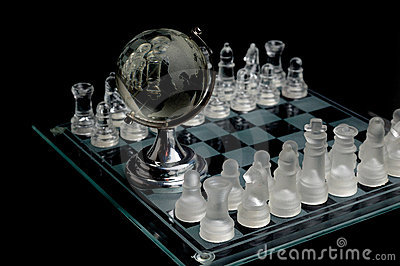 Crystal world chess globe