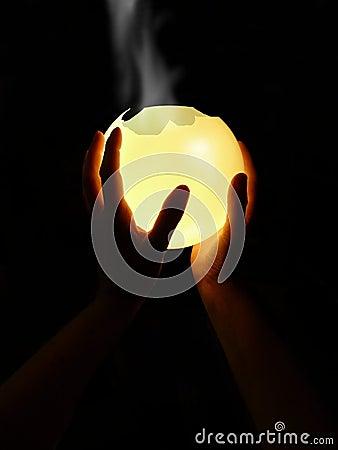 Crystalball-fumée