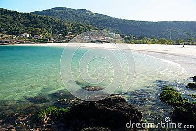 Crystalline sea beach in Niteroi, Rio de Janeiro