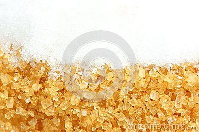 Crystalline sugar and granulated sugar