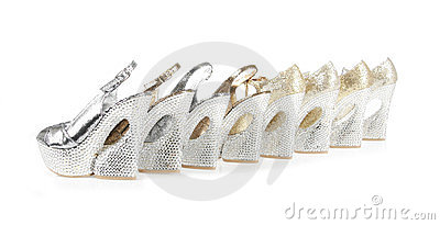 Crystals encrusted platform shoes collections