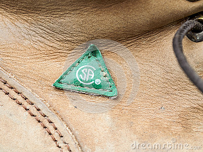 CSA Approved work boot Editorial Stock Image