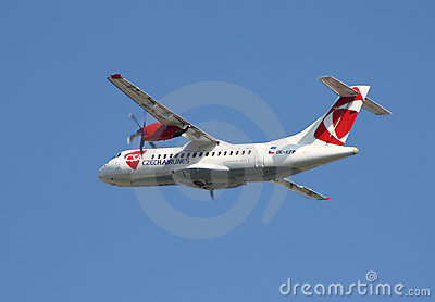 CSA - Czech Airlines  ATR-42 Editorial Stock Image