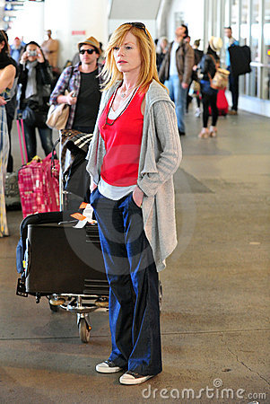 CSI actress Marg Helgenberger at LAX airport Editorial Photography