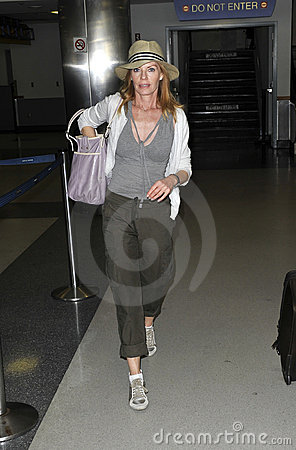 CSI star Marg Helgenberger is seen at LAX Editorial Photo