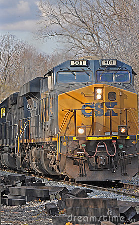 CSX Freight Train Editorial Stock Photo