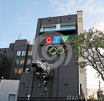 CTV Building Editorial Stock Photo