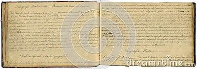 Cuaderno original de la vendimia