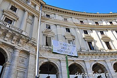 Cuadrado de Rebuplic, Roma