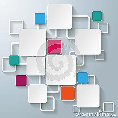 Cuadrados coloridos del rectángulo