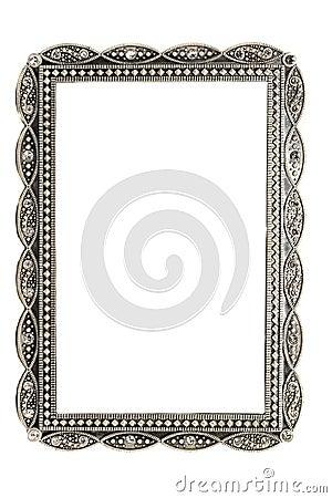 Cuadro del metal y marco antiguos de la foto