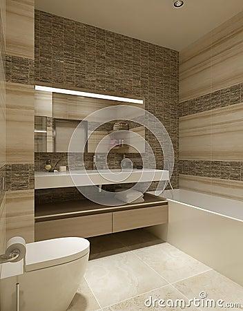 Cuarto de ba o del estilo contempor neo stock de for Diseno de habitacion de estilo contemporaneo