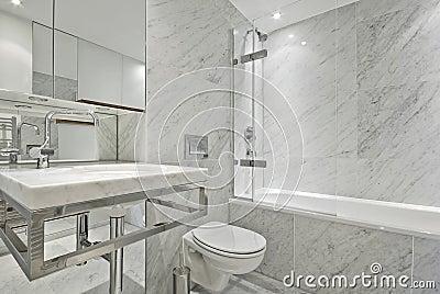 cuarto de bao de mrmol blanco moderno foto de archivo imagen with cuartos de bao modernos