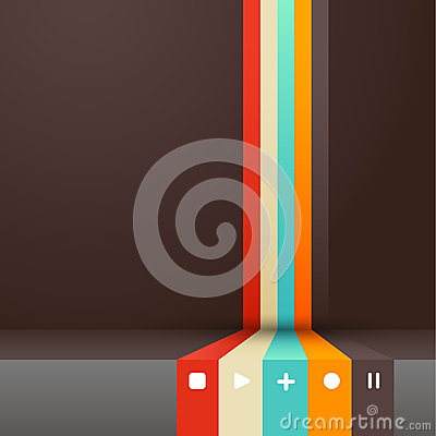Cuatro colorearon rayas con el lugar para su propio texto.