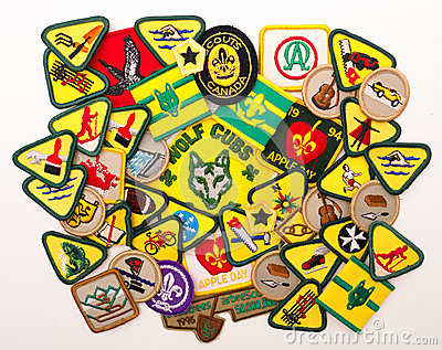 Cub and Scout Merit Badges Editorial Stock Image