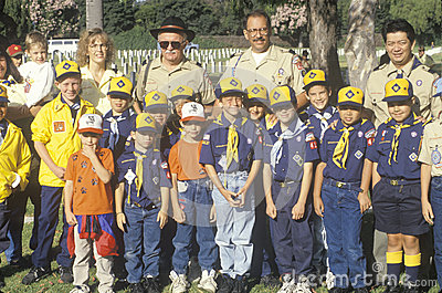 A Cub Scout troop Editorial Image